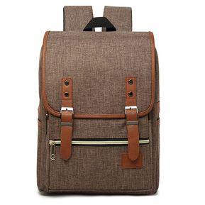 7ef36dbf1 Laptop Backpack Beg Bag Pack De Alta Calidad Female Male Travel Vintage  Teenage College Double Shoulder