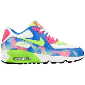 Tenis Air Max 90 Print Mesh GS 833497 400 Nike Juvenil Femenino Multicolor