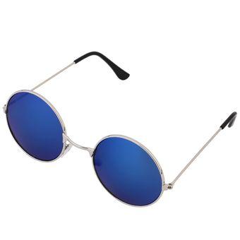 546fce0cf0 ER Mujeres Hombres Antideslumbrante Lente Espejo Colorido Gafas Redondas  Gafas De Sol De La Vendimia Green