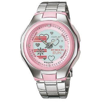 001304db4e0b Compra Reloj Casio Poptone LCF-10D-4A Rosado Para Mujer online ...