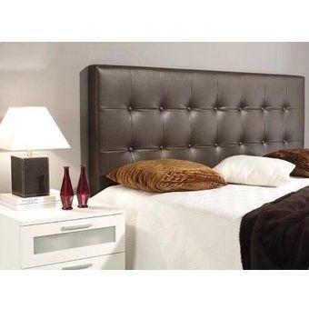 Compra cabecero para base cama queen 160x120 eco cuero marr n magic class online linio colombia - Bancos para dormitorio matrimonio ...