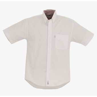 dd64dac5802 Camisa Caballero Manga Corta Oxford Hombre Uniforme Empresarial Ejecutivo  Oficina Color-Blanco
