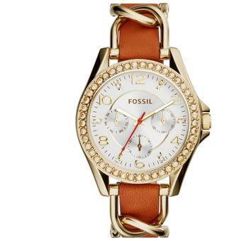 5b7f10d05f9f Agotado Reloj Análogo Marca Fossil Modelo  ES3723 Color Oro   Café Para  Caballero