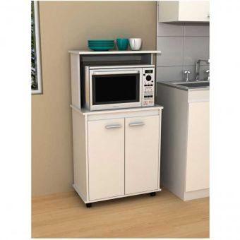 Compra mueble organizador de cocina ilatila blanco for Mesas auxiliares para cocinas pequenas