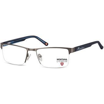b8f2bf098d Monturas Montana Oftálmicas Livianas Marco Metálico Para Lentes Opticos  Formulados - Gafas MM622B - Plomo/