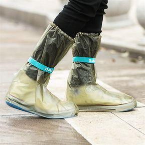 73c29794 PVC Adjustable Bota Para Lluvia Cubierta Beam Port Overshoes — Marrón