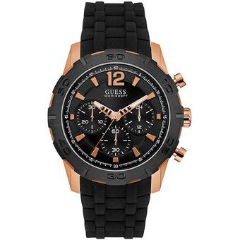 Compra Reloj GUESS Caliber W0864G2 Negro Con Dorado Para Hombre ... c88507078ce9