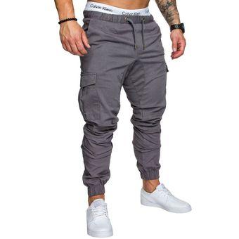 Casual Multi Bolsillo Haren Pantalones Joggers Para Hombres Gris Linio Mexico Ge032fa0vdyp2lmx