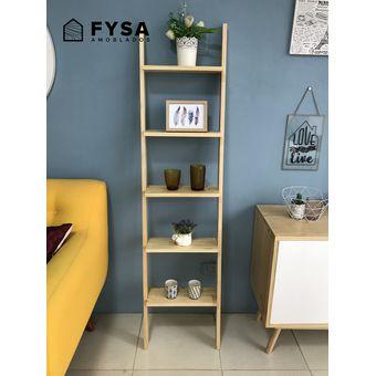 Escalera Estante Decorativo Para Sala Comedor Dormitorio FYSA Amoblados -  TONO NATURAL