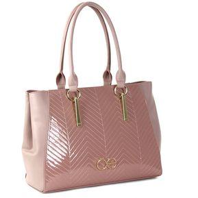 010a08d32ce Bolso Cloe satchel en charol con detalle de costuras - rosa