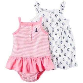 76e5d9807d9 Compra Set Vestido Enterizo Carter´s De Algodón Para Bebé Niña ...