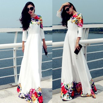 Vestidos largos blancos para dama