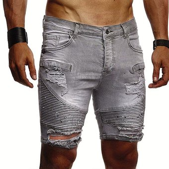 Pantalones Vaqueros Cortos De Moda Para Tiempo Libre Para Hombre Ropa De Marca Pantalones Cortos Vaqueros De Verano Para Hombre Pantalones Cortos Para Hombre Gris Linio Peru Un055fa0rddb7lpe