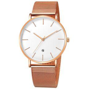 930030587c15 Geneva 658 Reloj de cuero moda de casual para hombre Blanco