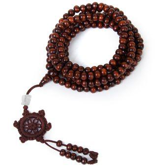 MagiDeal Collar Pulsera Budista Tibetano 216pcs Sándalo Cuentas Buda Mala