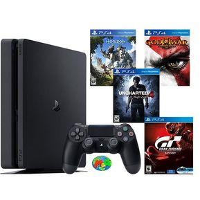 d8fb517faec77 Consola Ps4 Slim 1TB + 4 Juegos God Of War 3 - Uncharted 4 - Horizon