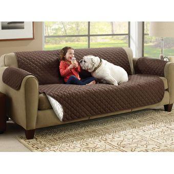 Compra funda para sofa protectora reversible cafe beige for Fundas para sillones