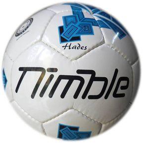 Balon Soccer Hades  5 Blanco Azul Nimble f9ec224d44c0c