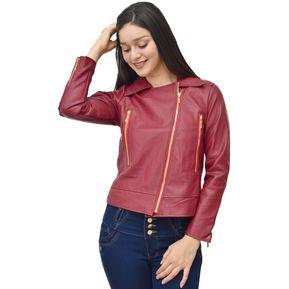 Zehn Clothing - Casaca Cruzada Mujer - RojoVino e136da4672b2