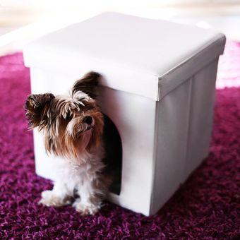 Compra Casa Puff Cubo Mascotas Pequeas BLANCO online Linio Colombia
