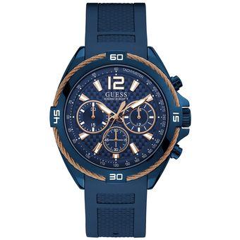 Compra Reloj Guess W1168G4 Para Caballero Azul  Dorado online ... e6f86d827107