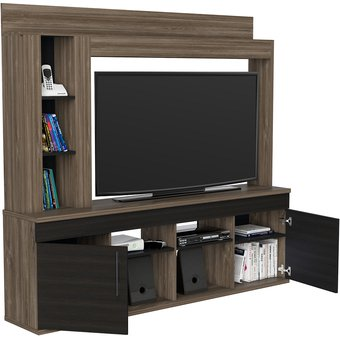 Compra mueble rack para tv hasta 55 bellagio wengue for Muebles para lcd 55 pulgadas