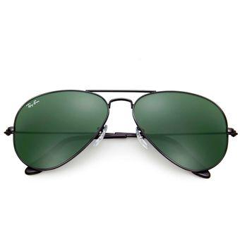 M Ban Negro Talle Sol 3025 De Aviator 58mm Verde Ray Gafas L2823 QCdtshrx