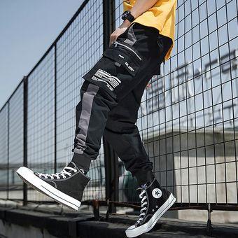 Hip Hop Ribbons Pantalones Cargo Hombres Joggers Pantalones Streetwear Hombres Moda Hombres Elastico Cintura Pantalones Cintas Pantalones Algodon Negro Bq K184 Grey Linio Peru Ge582fa0ulj9rlpe