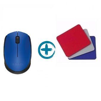 Regalos originales Mouse Logitech M170 Azul + Mousepad de Regalo!