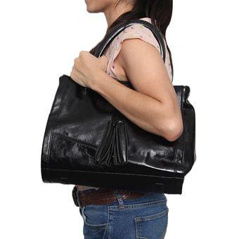 Paquete Bolsa Y Cartera Madison Negro AM Handbags Negro