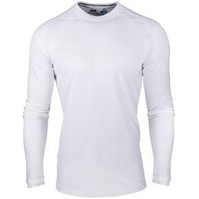 Camiseta térmica hombre con abrigo frizada montañista Trevo blanca be769902c3073