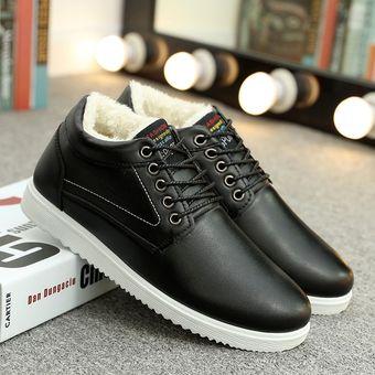 ef53ced366b Zapatos casuales de hombre más zapatos de terciopelo para hombres-Negro