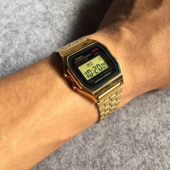 894df55e609e Compra Reloj Dorado Hombre Mujer Unisex Vintage Casio A159WGEA-1DF ...