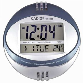 74e3259f24f1 Reloj Pared Kadio Digital Kd3806 Hora Fecha Alarma Termometr