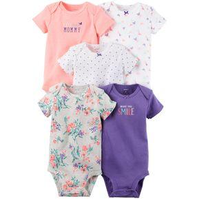 Pack de 5 bodysuits manga corta de algodón para Bebé Niña Carter s -  Multicolor 95943caa074c