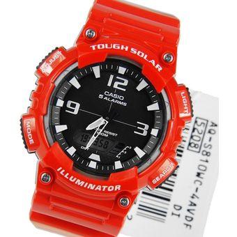 5f05d146072c Reloj Casio Para Hombre AQ-S810WC-4A Rojo Dial Negro Con Funcionamiento A  Energía
