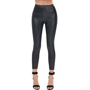 9742537e188 ZAFUL Pantalón Skinny de Piel Sintétcia para Mujer-Negro