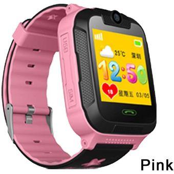 talla 40 3df15 89ae4 TD07S reloj inteligente para niños 3G red GPS LBS Wifi rastreador ubicación  SOS Dial llamada cámara reloj inteligente para niños IOS Android(#Rosado)
