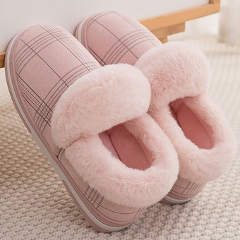 Pantuflas De Invierno Para Mujer Tallas Grandes 43 45 Moda Gingham Zapatillas De Casa Calidas Antideslizantes Zapatos De Casa Acogedores Para Mujer Wan Pink Linio Peru Ge582fa00scs3lpe