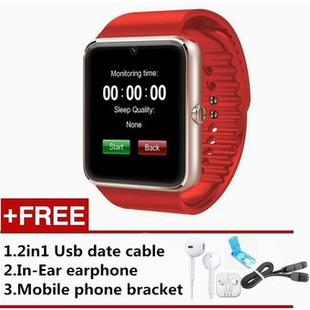 SmartWatch GT08 Compatible Con Iphone Y Android Bluetooth Reloj Inteligente  -Rojo 42380d92778