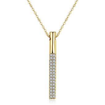 7a0eae45c3bf Compra Colgante Fino Moonlight Tribeca Cristal Dorado online