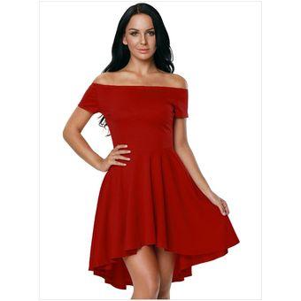 Vestido Elegante Para Fiestas Generico Para Mujer Rojo