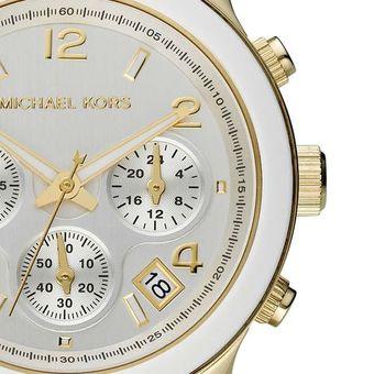 Compra Michael Kors - Reloj Analógico Mujer MK5145 - Blanco Y Dorado ... f7df7bc51654