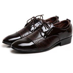 260758b4 Zapatos De Cuero Oxford De Moda Para Hombres De Negocios De Moda Formal