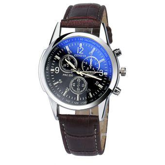 Compra Reloj Casual Hombre Cuero - Color Marron Negro online  89c5fa153374