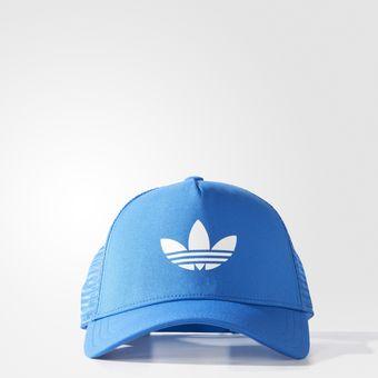 Compra Gorra Adidas Aj8955 Trefoil Trucker - Azul online  4a9b593d8df