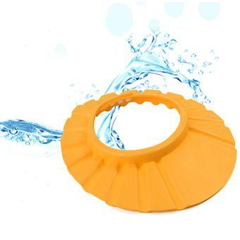 Gorro Visera de Ducha para Baño Bebé Niño Protege sus Ojos del shampoo -  Naranja 1b137b6da4a