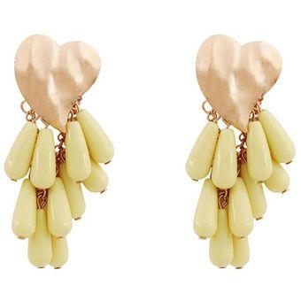 96fab5ed69c7 Compra EY Moda chicas joyas aretes estilo versátil-Amarillo online ...