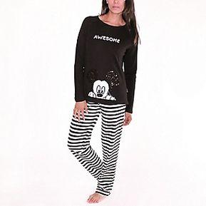 ccdadcd030a9db Disney Pijama Mujer Negro