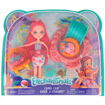 Compra Enchantimals - Cameo Crab - Chela Y Courtney - Mattel online ... 8697a0c2a3a